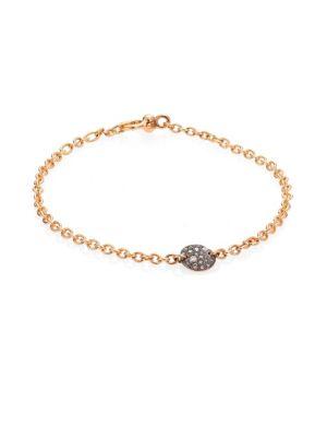 Sabbia Brown Diamond & 18K Rose Gold Thin Bracelet