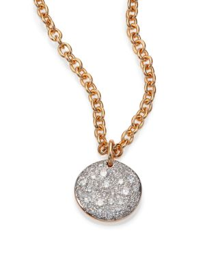 Sabbia Diamond & 18K Rose Gold Pendant