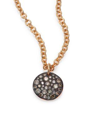 Sabbia Brown Diamond & 18K Rose Gold Pendant