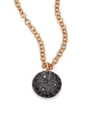 Sabbia Black Diamond & 18K Rose Gold Pendant