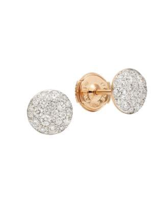 Sabbia Diamond & 18K Rose Gold Stud Earrings