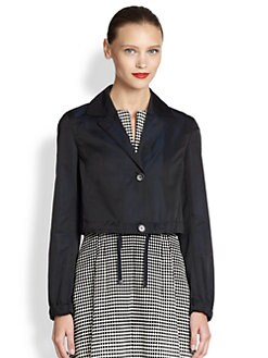 Akris Punto - Cropped Drawstring Jacket