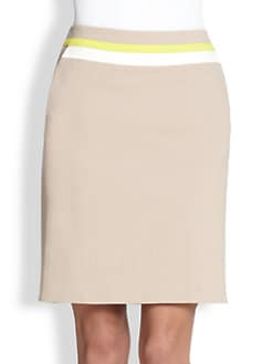 Akris Punto - Stripe-Waist Pencil Skirt