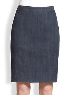 Akris Punto - Denim Pencil Skirt