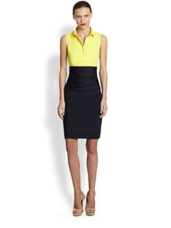 Akris Punto - Two-Tone Cummerbund Dress