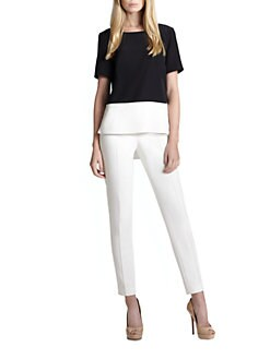 Akris Punto - Silk Colorblock Blouse