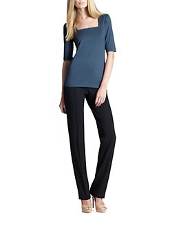 Akris Punto - Jersey Square-Neck Top