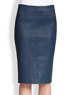 Akris Punto - Stretch Leather Pencil Skirt