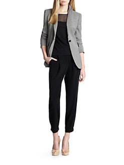 Akris Punto - Printed Single-Button Blazer