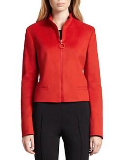 Akris Punto - Wool & Angora Zip-Front Jacket