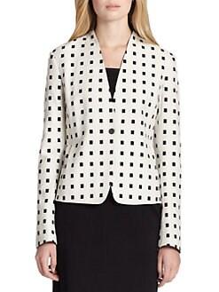 Akris Punto - Tile-Print Cotton Snap-Front Jacket