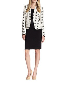 Akris Punto - Tile-Print Cotton Snap-Front Jacket