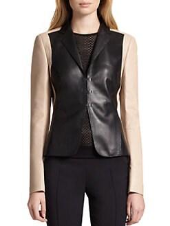 Akris Punto - Leather Colorblock Blazer