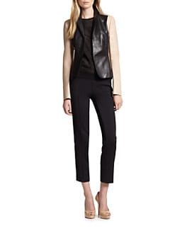 Akris Punto - Leather Colorblock Blazer