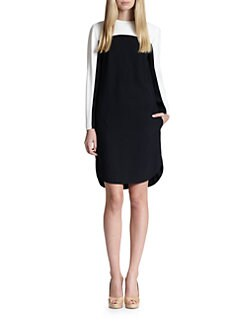 Akris Punto - Crepe Colorblock Dress