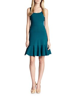 Akris Punto - Jersey Sleeveless Flounced Dress