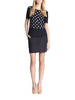 Akris Punto - Polka-Dot Panel Silk Top