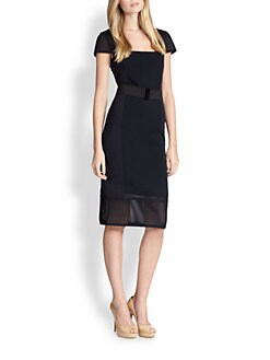 Akris Punto - Techno Mesh Cap-Sleeve Dress