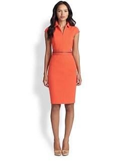 Akris Punto - Cap-Sleeve Belted Jersey Dress