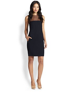 Akris Punto - Wool & Leather Sleeveless Dress