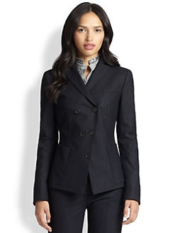 Akris Punto - Double-Breasted Pinstripe Blazer