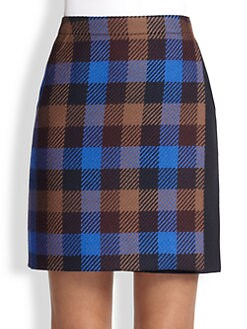 Akris Punto - Check Wool Wrap Skirt