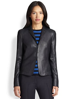 Akris Punto - Leather-Front Blazer