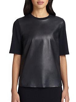 Akris Punto - Leather-Front Shirt