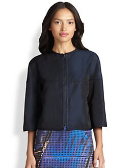 Akris Punto - Reversible Techno Cropped Jacket