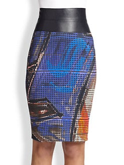 Akris Punto - Graffiti-Print Pencil Skirt