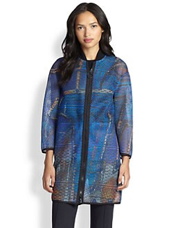Akris Punto - Graffiti-Print Oversized Jacket