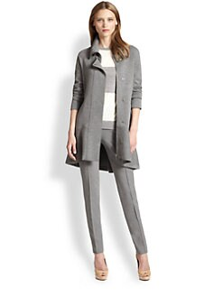 Akris Punto - Knit Wool Peplum Cardigan