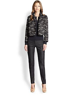 Akris Punto - Cropped Denim Jacquard Jacket