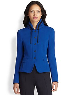 Akris Punto - Ruched Collar Jacket