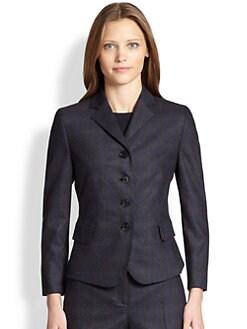 Akris Punto - Check-Front Jersey-Back Blazer
