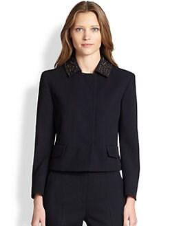 Akris Punto - Embellished Collar Wool Jacket