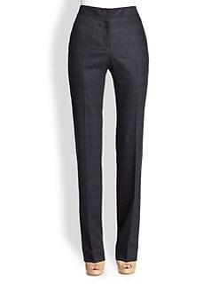 Akris Punto - Wool & Cashmere Plaid Faubourg Pants