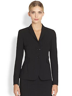 Akris Punto - Long-Sleeve Single-Breasted Wool Jacket