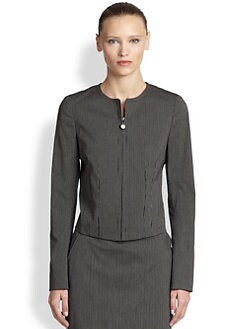 Akris Punto - Stretch Cotton Micro Stripe Jacket