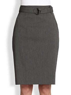 Akris Punto - Belted Pencil Skirt