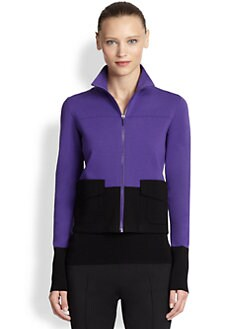 Akris Punto - Wool Colorblock Knit Jacket
