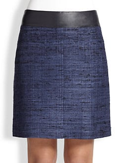 Akris Punto - Silk Contrast-Waist Pencil Skirt