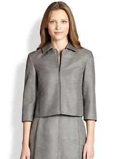 Akris Punto - Textured Silk Zip-Front Jacket