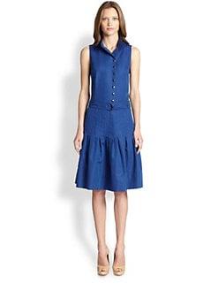 Akris Punto - Belted Cotton Faille Dress
