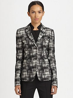 Akris Punto - Printed Stretch Cotton Blazer
