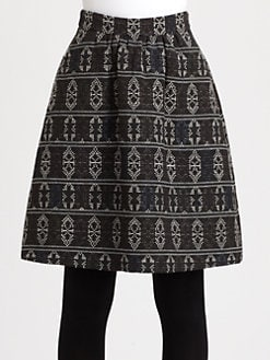 Akris Punto - Wool-Blend Tribal Jacquard Skirt