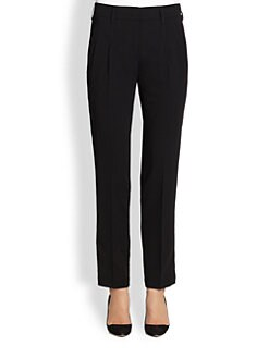 Akris Punto - Belted Wool Ankle-Length Straight-Leg Pants