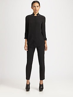 Akris Punto - Laser-Cut Silk Blouse