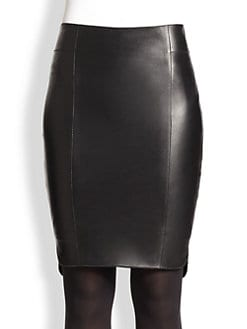 Akris Punto - Leather Pencil Skirt