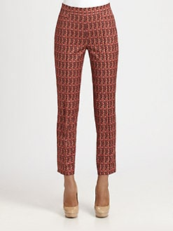 Akris Punto - Cropped Printed Stretch Cotton Pants